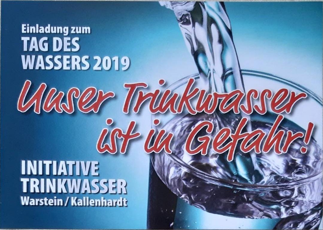 Einladung zum Tag des Wassers 2019